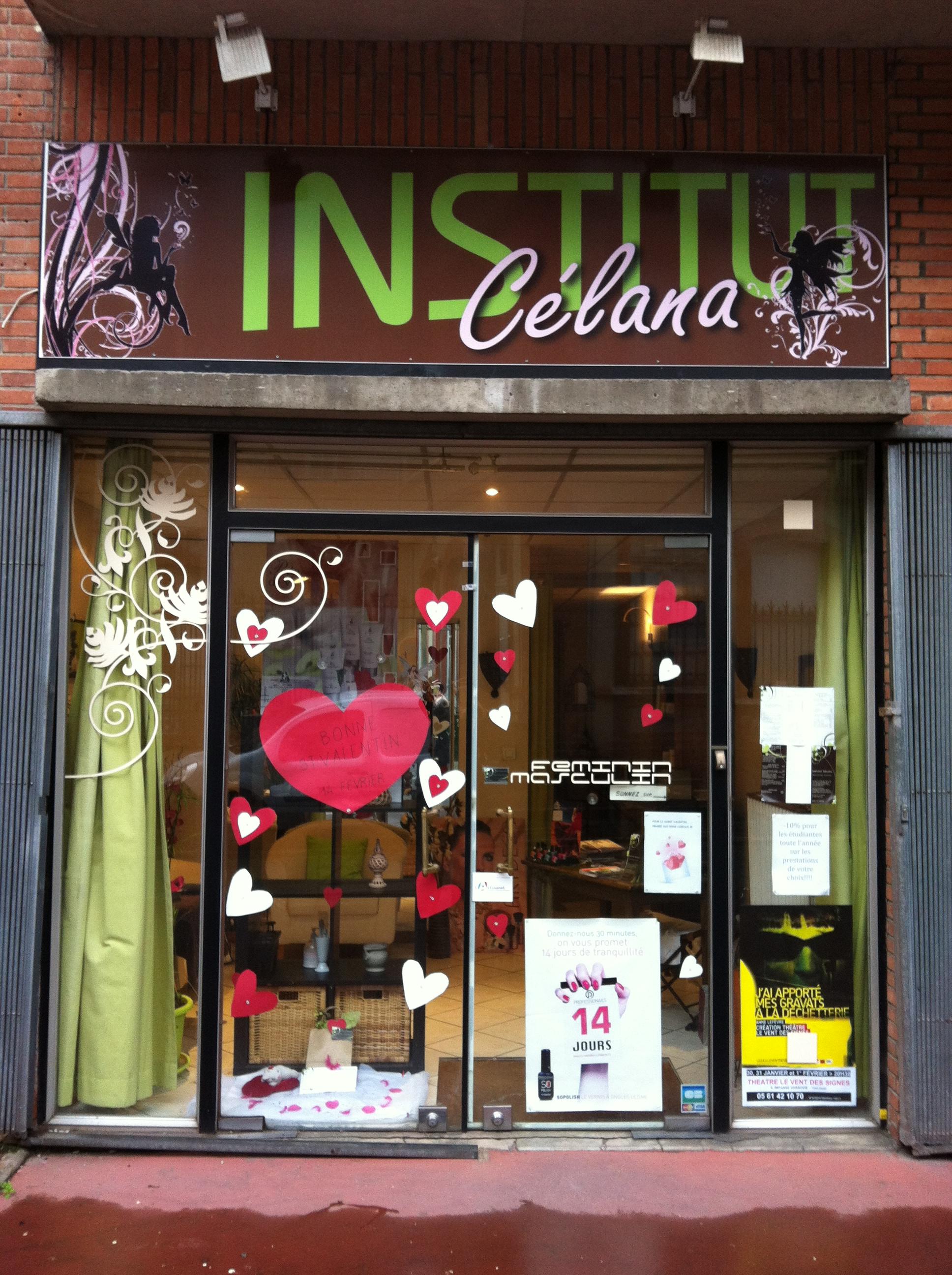 vitrine st valentin institut c lana toulouse france. Black Bedroom Furniture Sets. Home Design Ideas