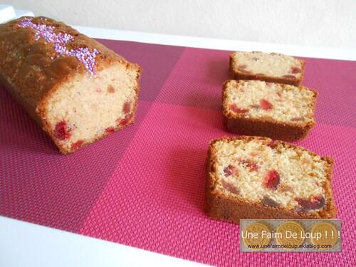 Cake à la cerise et fraise confites