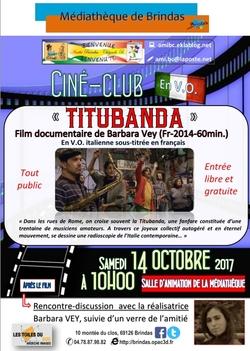 Prochain ciné-club du 14 octobre avec la présence de la réalisatrice