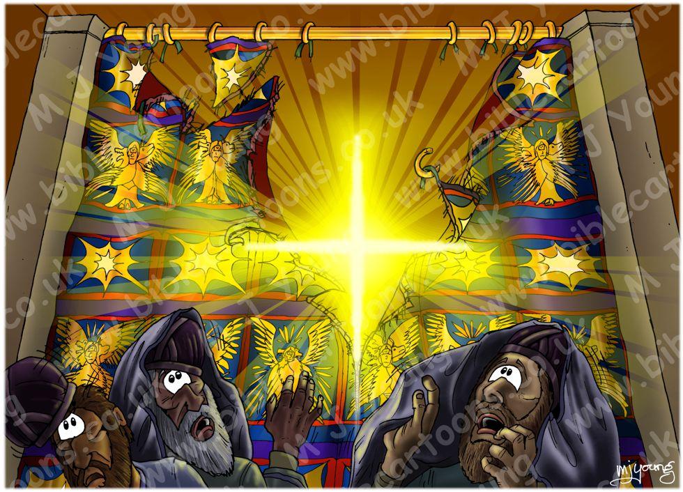 Mark 15 - Death of Jesus - Scene 02 - Temple curtain torn
