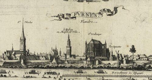 Furnes [7 septembre 1646], Noël Cochin, 1647 (patrimoine-numerique.ville-valenciennes.fr)