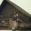 Devant le refuge d'Arlet (2000 m), il neige