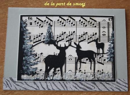 Ronde de carte de Noël - de la part de smcaj
