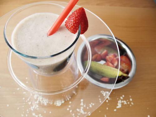 lait fraises avoine