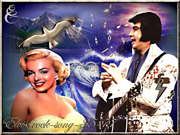 Elvis Presley et Maryline Monroe