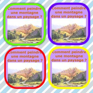 Dessin et peinture - vidéo 3242 : Comment peindre une montagne avec de la profondeur de champ ? - huile ou acrylique.