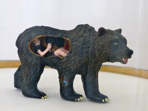 Dans la peau de l'ours Poincheval maquette