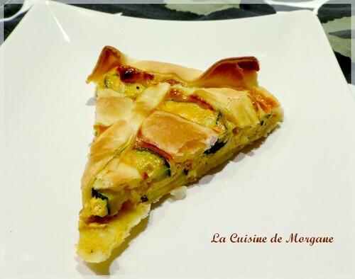 Tarte courgette et fromage frais (boursin au piment)