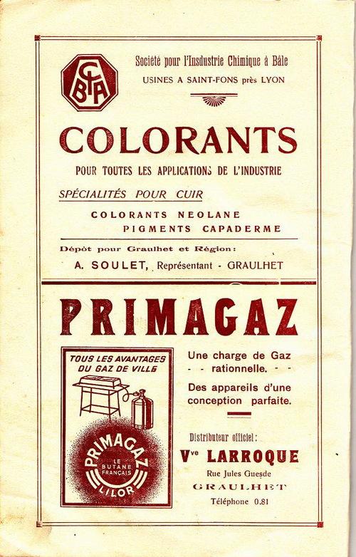 LES FETES DE PANESSAC en 1938 : le programme