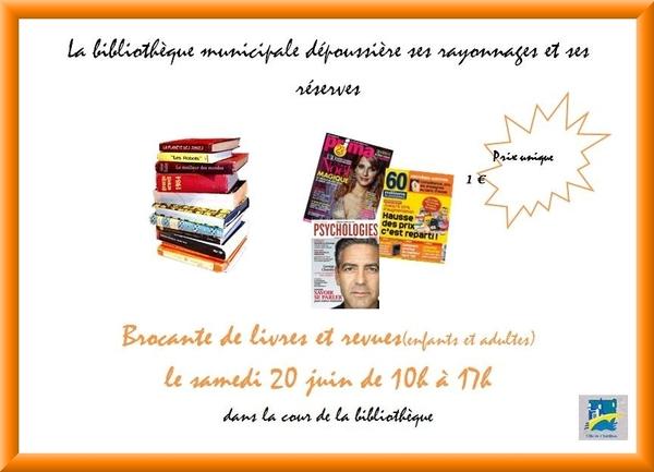 La Bibliothèque Municipale de Châtillon sur Seine organise une brocante de livres....