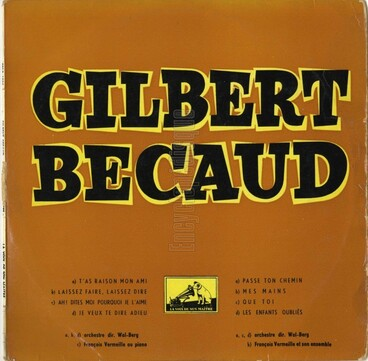 Gilbert Bécaud, 1954
