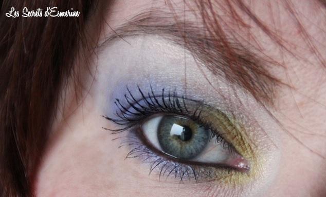 Makeup bleu-vert tempête, les secrets d'esmerine