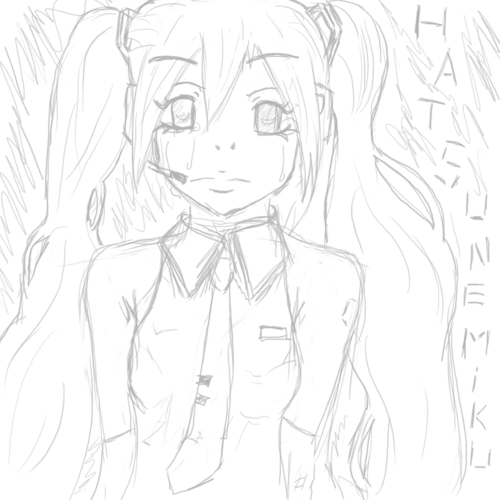 Sad Miku Hatsune. (version non finie.)