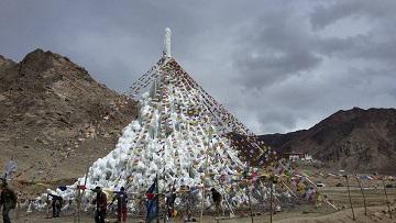 Les stupas de glace ...