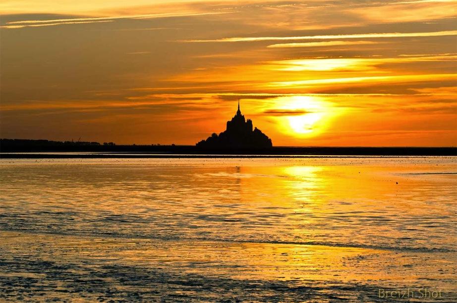 Mont-Saint-Michel - coucher de soleil