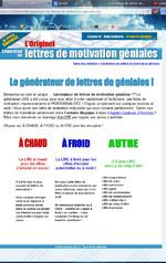 """Générateurs de lettres de motivation """"géniales"""""""