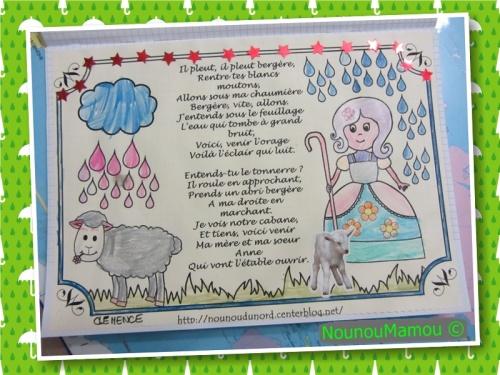 Comptine illustrée : il pleut bergère