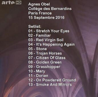 Braderie rock de printemps - Jour 2 : Agnes Obel - Collège des Bernardins Paris - 25 septembre 2016