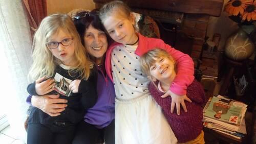 ma petite famille, première photo avec maman