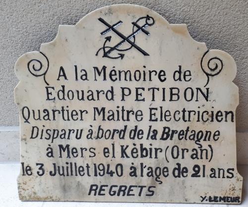 Edouard Petibon: un Kermoustérien à Mers el Kébir
