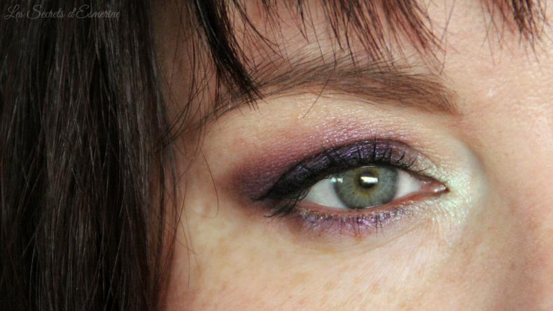 Maquillage fruité en pistache et prune - yves rocher - master drama