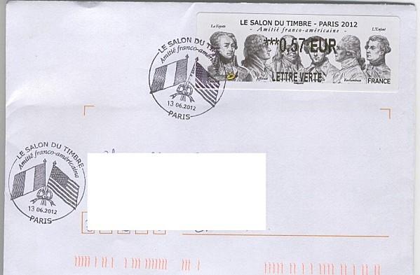 enveloppe émission commune France Etats unis - timbre LSA