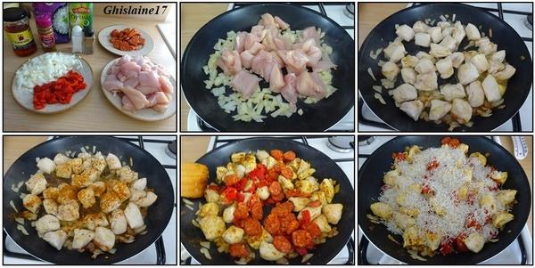 Poêlée de poulet à l'espagnole