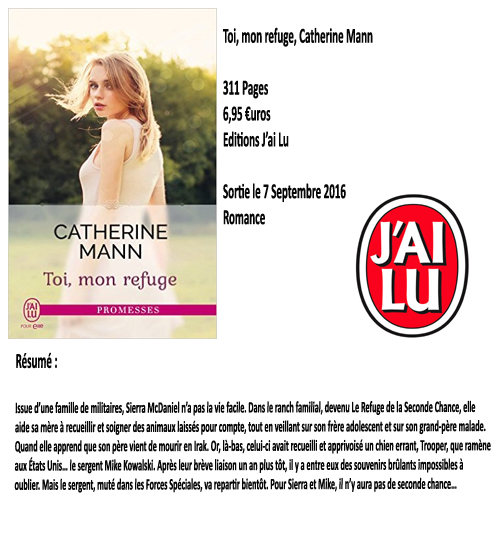 Toi, mon refuge, Catherine Mann