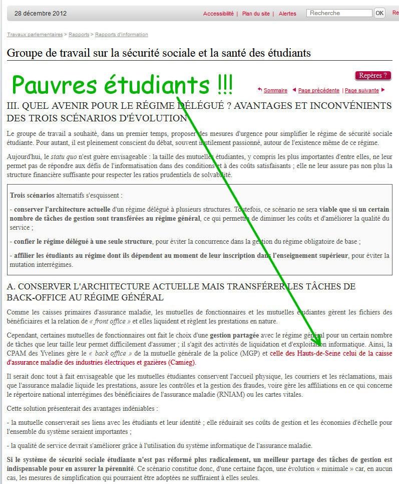 Pauvres étudiants !!! La CAMIEG comme modèle !!!