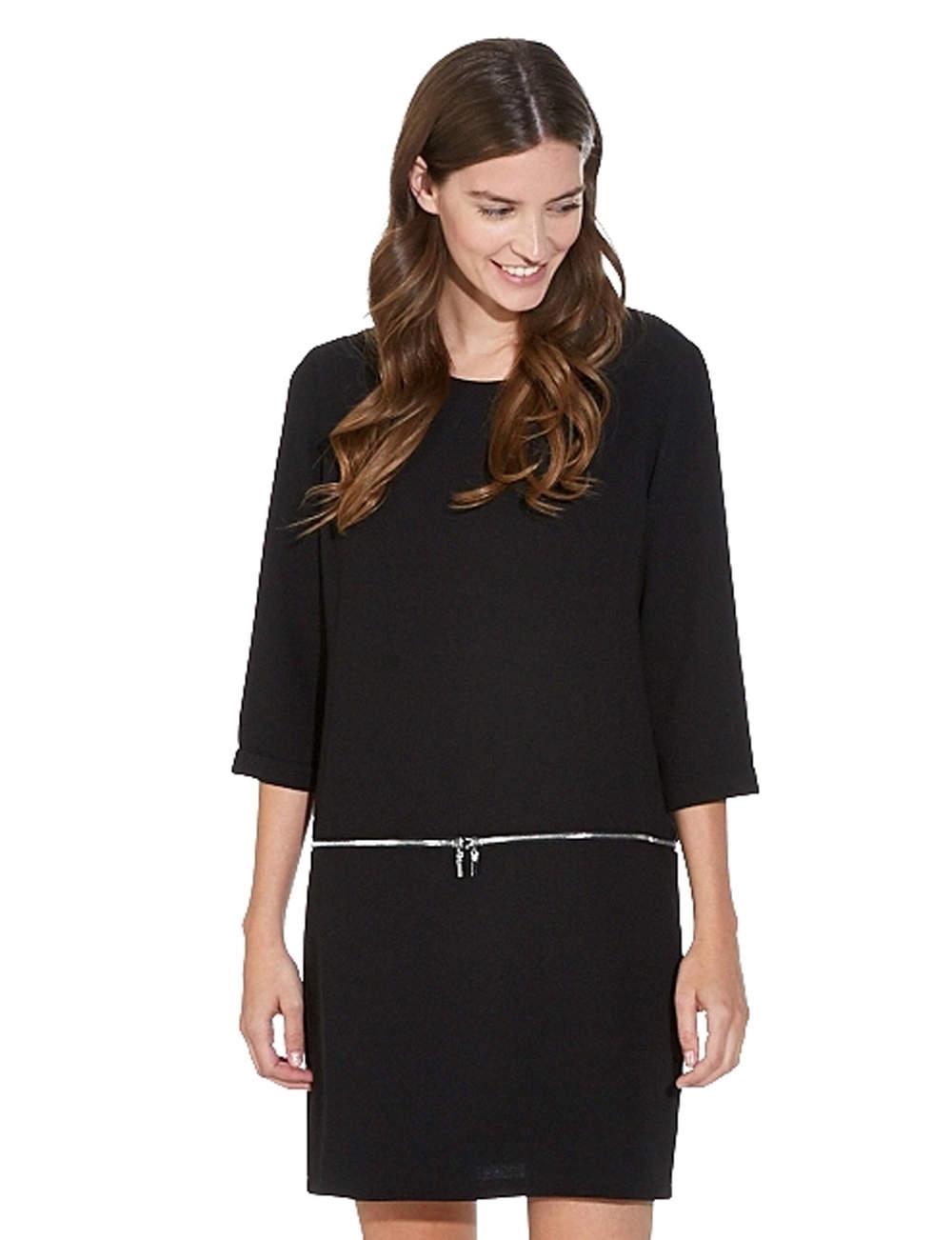 Robe noire : zippée