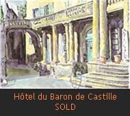 Aquarelles Miniatures English Hotel du baron de Castille 2