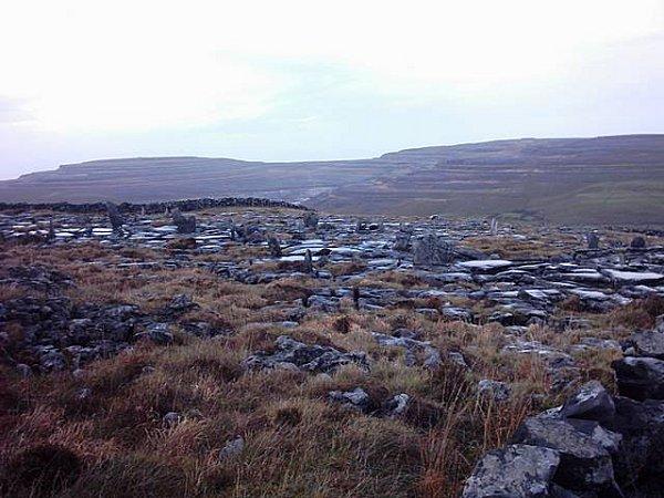 Menhirs sur le Burren Way en Irlande