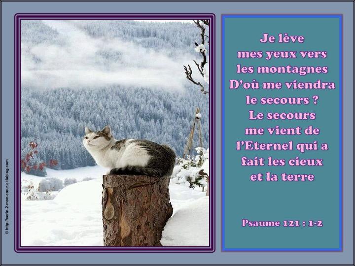 Le secours me vient de l'Eternel - Psaumes 121 : 1-2