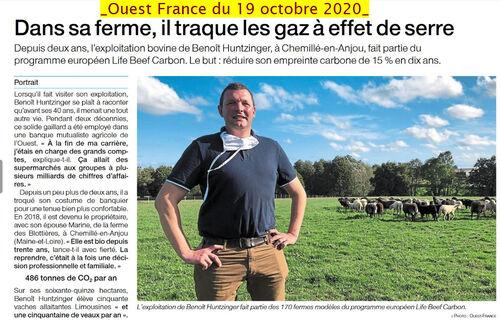 Dans la presse : Agriculture et bilan carbone