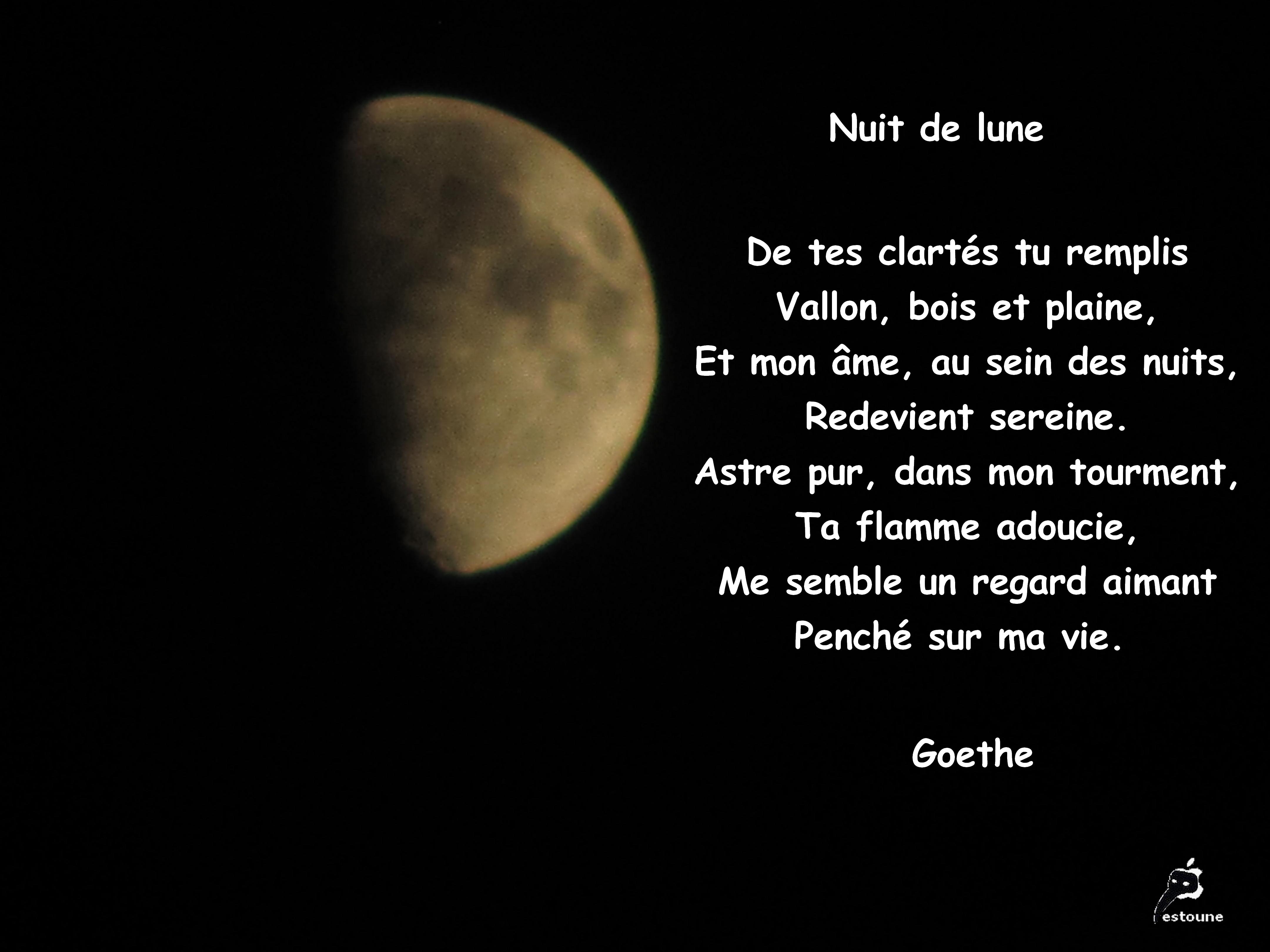 Nuit De Lune De Goethe Citation En Image Le Jardin De Mes Etoiles