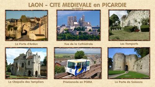 Laon - Cité Médiévale en Picardie sur Fond d'Ecran