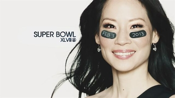 lucy liu super bowl
