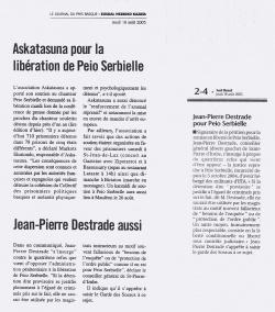 Pour la libération de Peio Serbielle