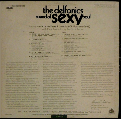 "The Delfonics : Album "" Sound Of Sexy Soul "" Philly Groove Records PG 1151 [ US ]"