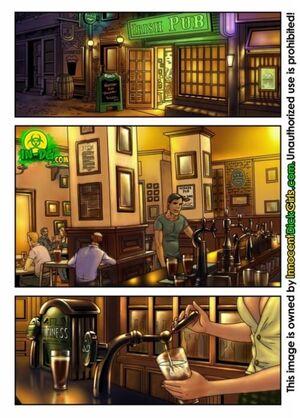 La serveuse irlandaise