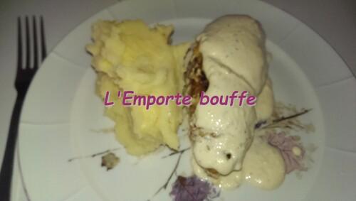 Poulet en crème de fromage