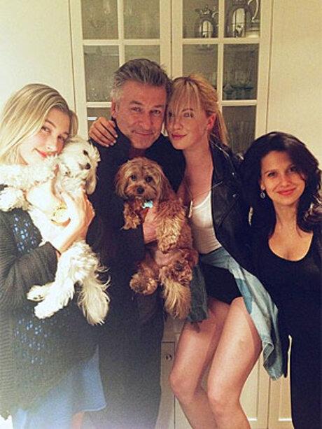 Alec Baldwin avec sa femme et ses enfants