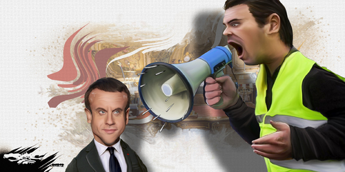 dessin de JERC du jeudi 13 décembre 2018 caricature Emmanuel Macron Je vous hais compris www.facebook.com/jercdessin @dessingraffjerc