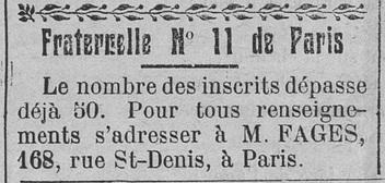 Fraternelles de Paris de l'institut général de Psychosie