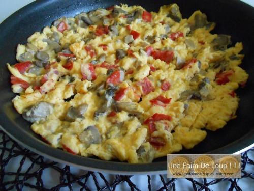 Omelette champignon & chorizo