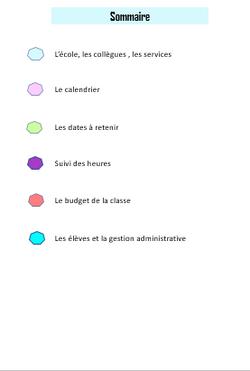 Cahier de la maîtresse (Année 2018-2019)