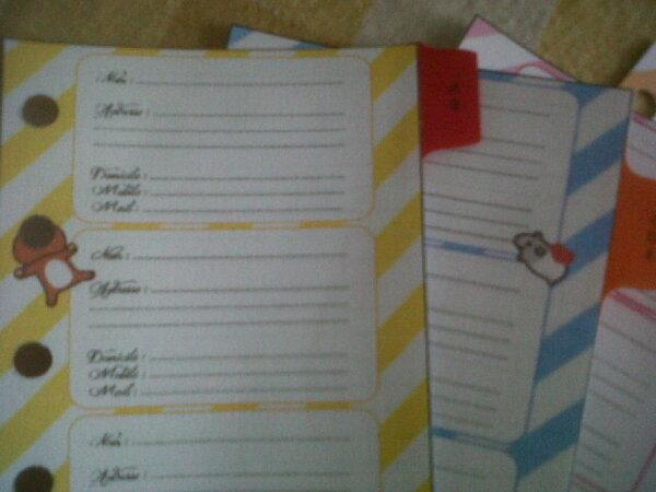 Mon agenda pour être organisée au quotidien!!