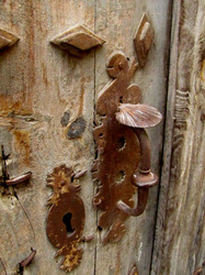 Bouton de la serrure en forme de coquille Saint Jacques