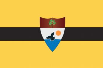 """Le blason """"officiel"""" de la République de Liberland."""