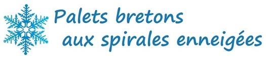 Palets bretons aux spirales enneigées